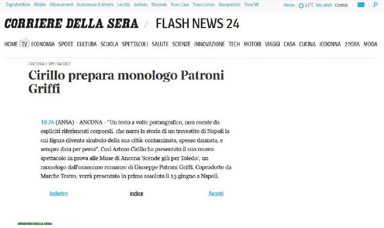 2014.06.06 Cirillo prepara monologo Patroni Griffi - corriere.it