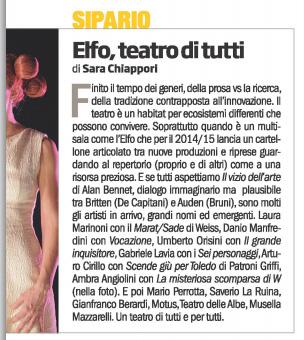 2014.06.12 Elfo teatro di tutti - La Repubblica