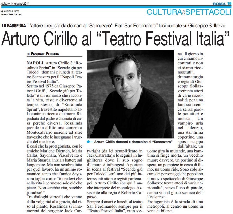 2014.06.14 Arturo Cirillo al 'Teatro Festival Italia' - Il Roma