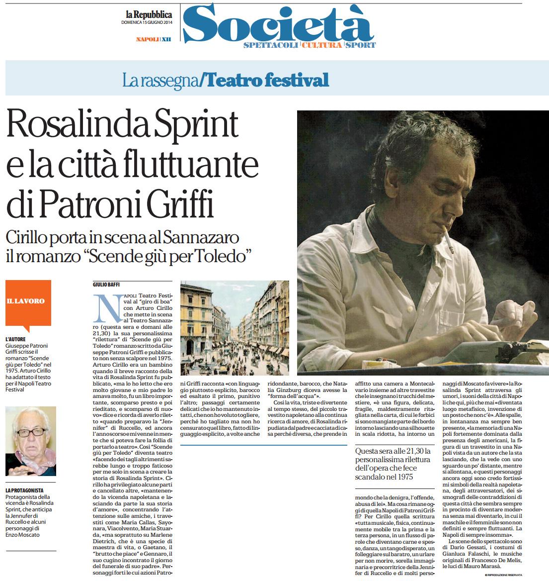 2014.06.15 Rosalinda Sprint e la città fluttuante di Patroni Griffi - La Repubblica