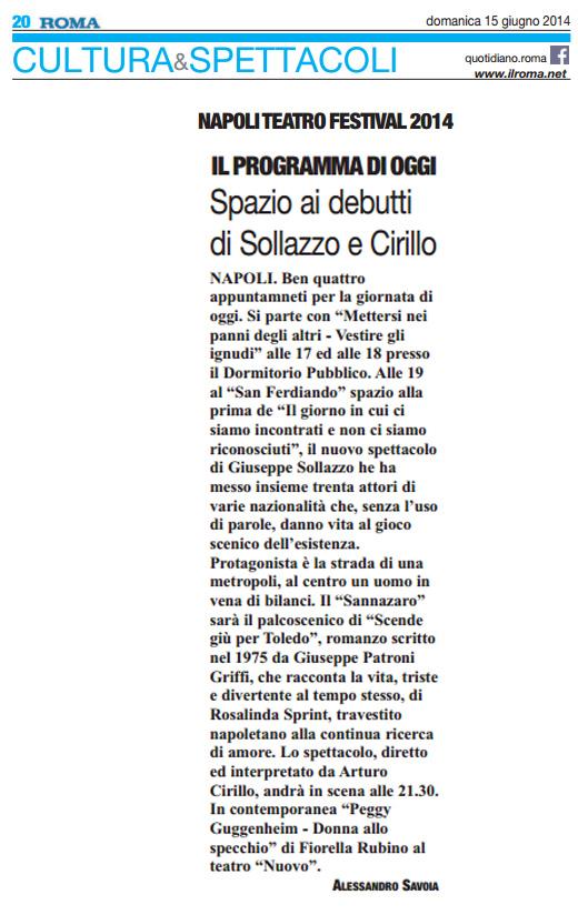 2014.06.15 Spazio ai debutti di Sollazzo e Cirillo - Il Roma