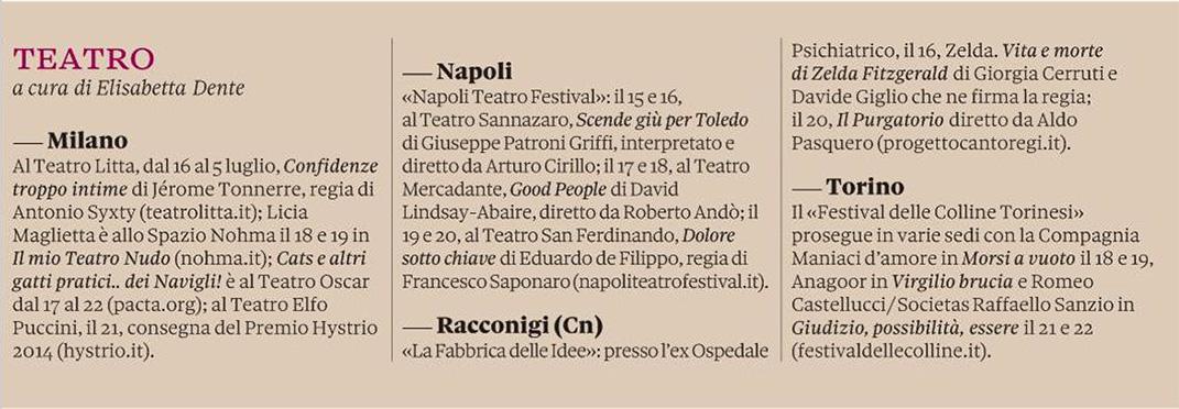 2014.06.15 Teatro - Il Sole 24 Ore