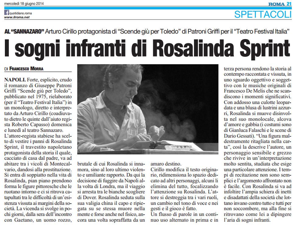 2014.06.18 I sogni infranti di Rosalinda Sprint - Il Roma