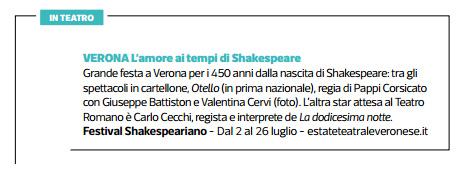 2014.06.27 L'amore ai tempi di Shakespeare - Sette Corriere della Sera