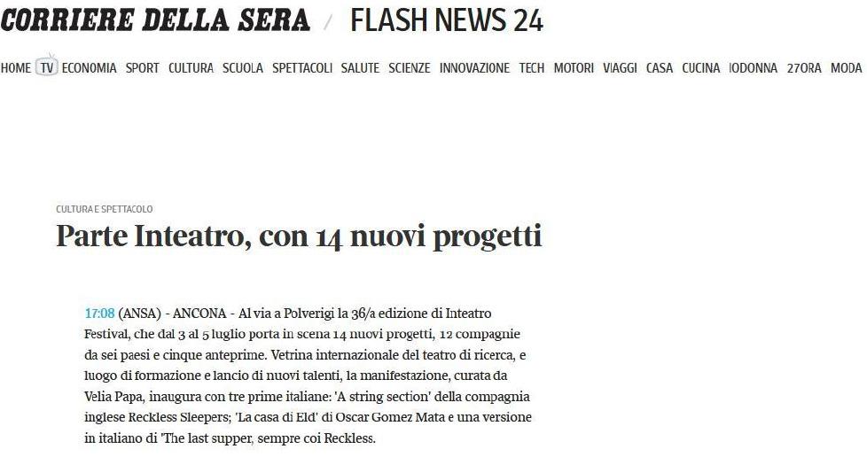 2014.06.27 Parte Inteatro, con 14 nuovi progetti - corriere.it