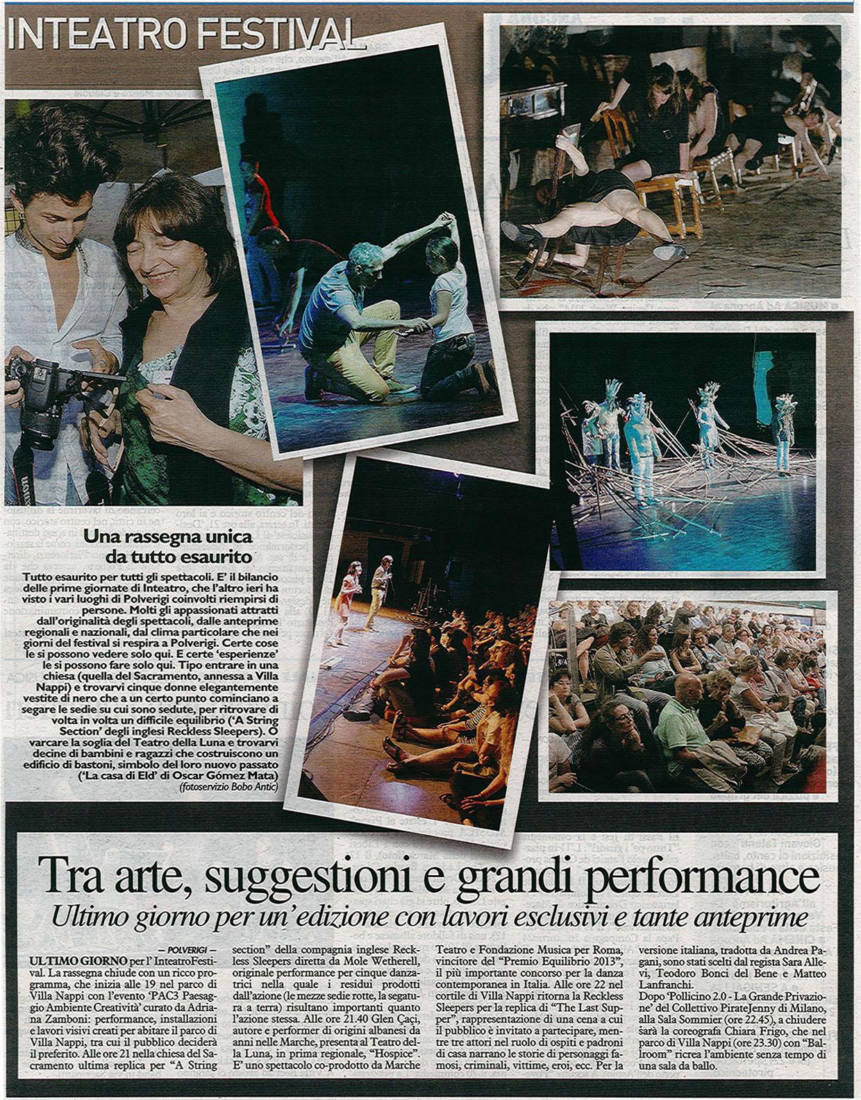 2014.07.05 Inteatro Festival - Il Resto del Carlino