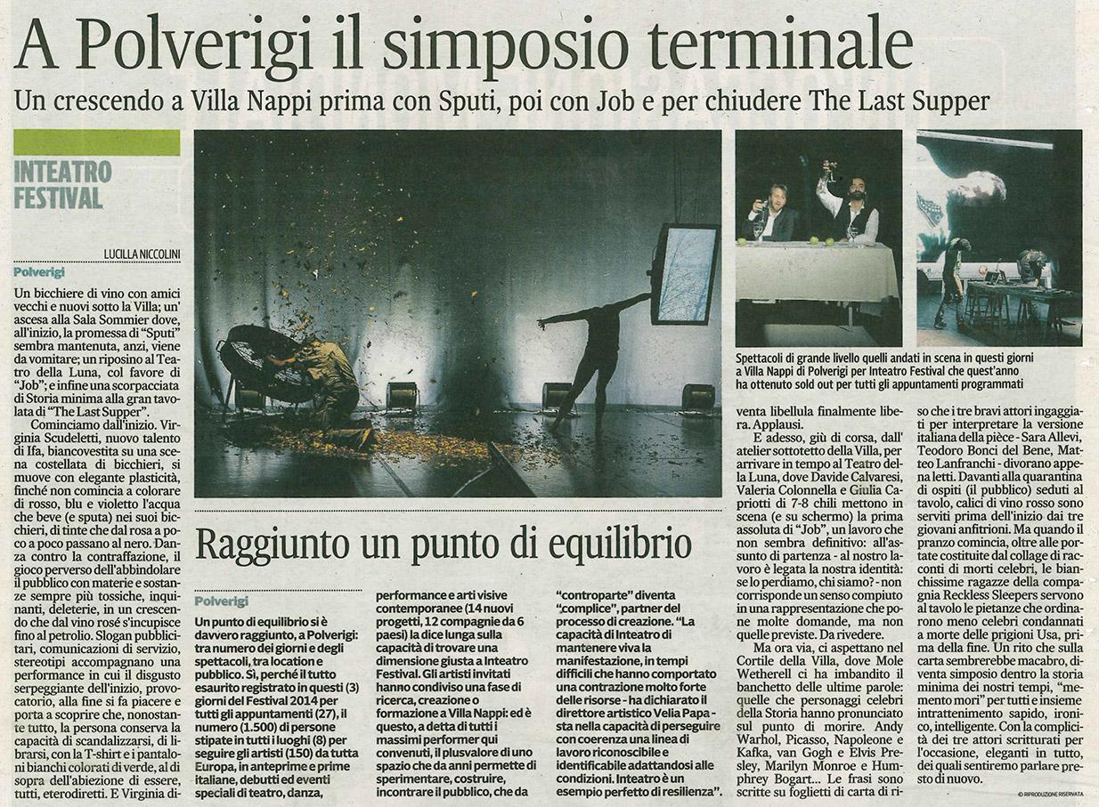 2014.07.06 A Polverigi il simposio terminale - Corriere Adriatico