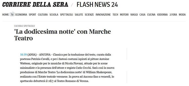 2014.07.07 La dodicesima notte con Marche Teatro - corriere.it