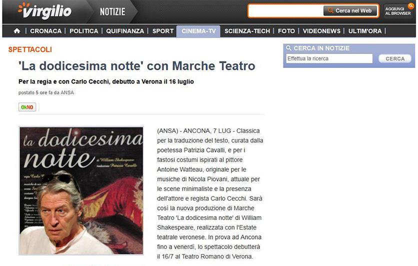 2014.07.07 La dodicesima notte con Marche Teatro - virgilio.it