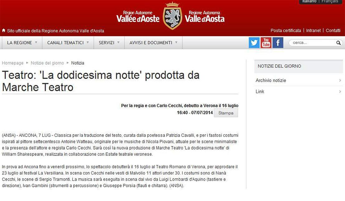 2014.07.07 La dodicesima notte prodotta da Marche Teatro - regione.vda.it
