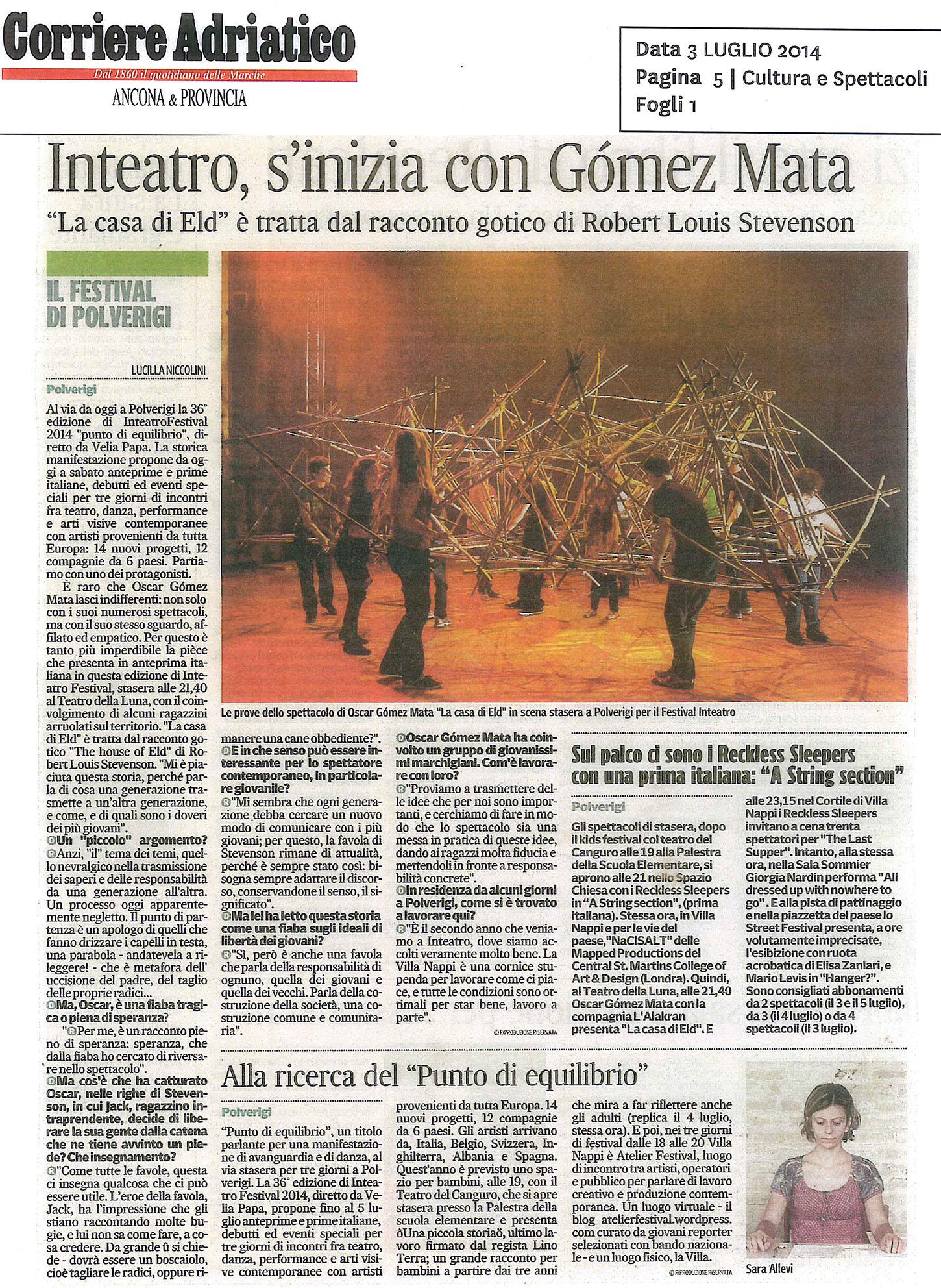 2014.07.03 Inteatro, s'inizia con Gomez Mata - Corriere Adriatico