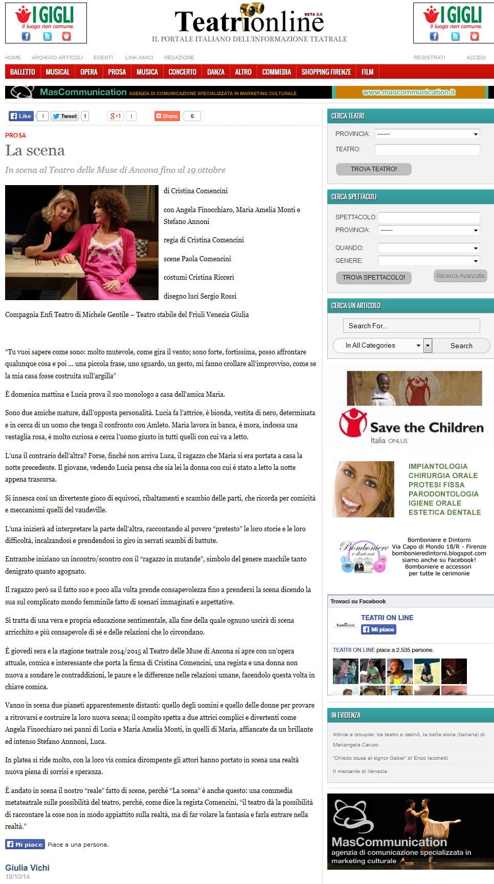 2014.10.18 la scena - teatrionline.com