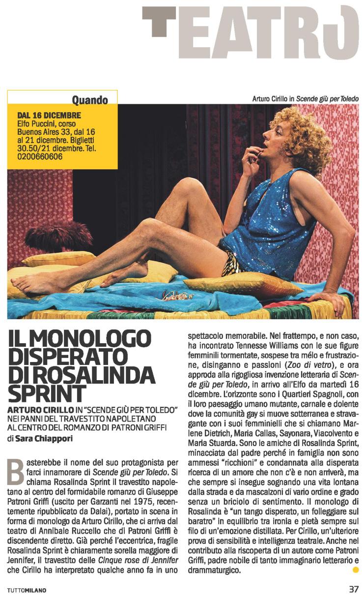 2014.12.11 Il monologo disperato di Rosalinda Sprint - Tutto Milano
