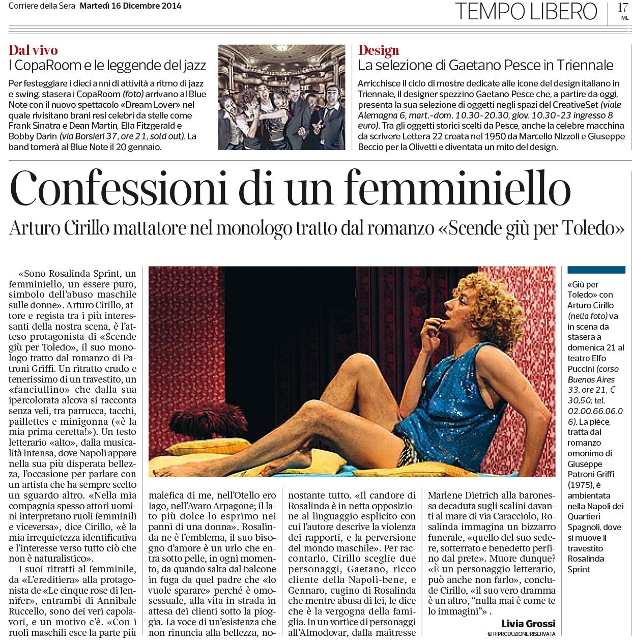 2014.12.17 Confessioni di un femminiello - Corriere della Sera