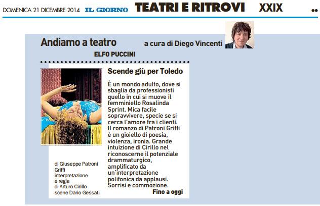 2014.12.21 Scende giù per Toledo - QN Il Giorno
