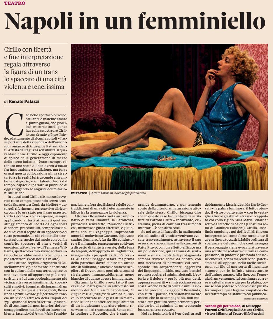 2015.01.11 Napoli in un femminiello - Il Sole 24 Ore