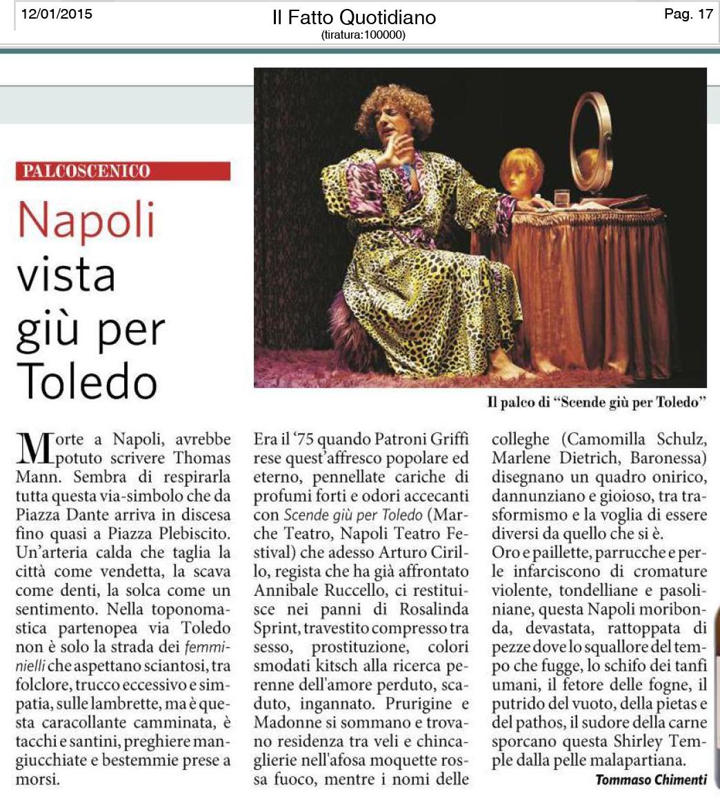 2015.01.12 Napoli vista giu per Toledo - Il Fatto Quotidiano