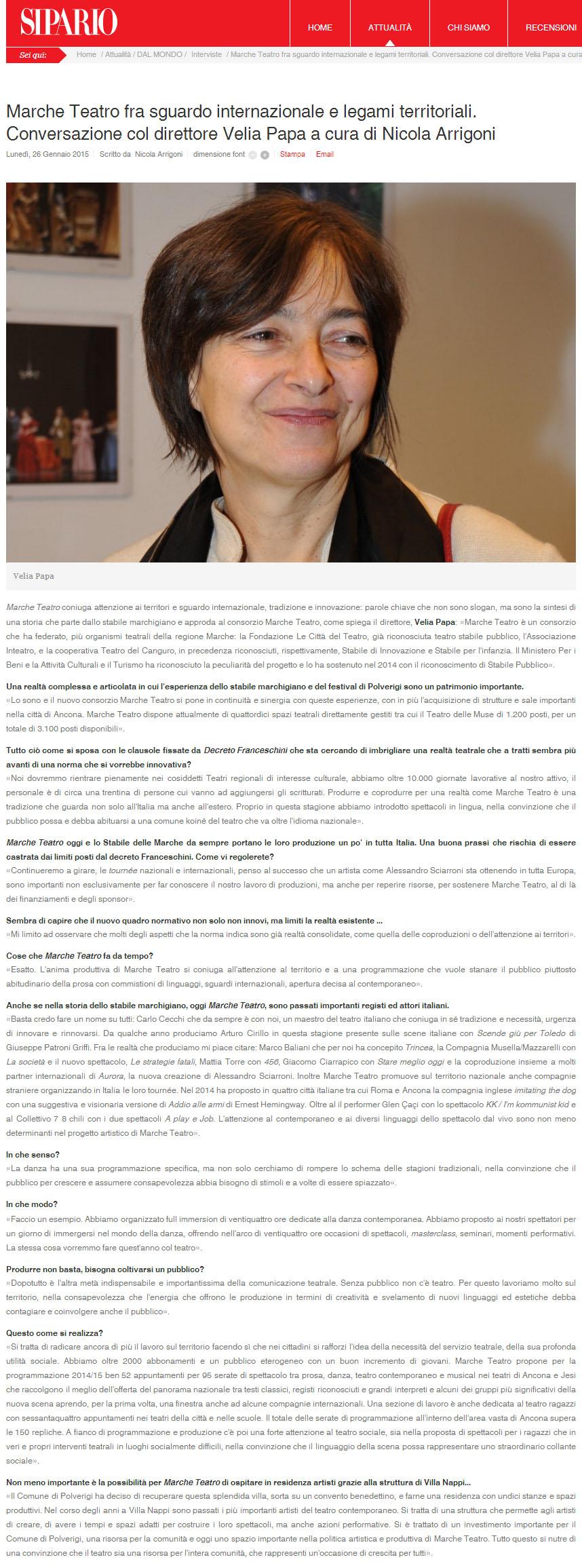 2015.01.26 Marche Teatro tra sguardo internazionale e legami territoriali - sipario.it