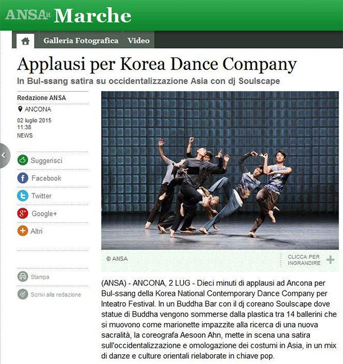 2015.07.02 Applausi per Korea Dance Company - ansa.it