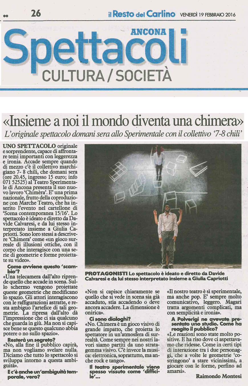 2016.02.19-Insieme-a-noi-il-mondo-diventa-una-chimera---Il-Resto-del-Carlino