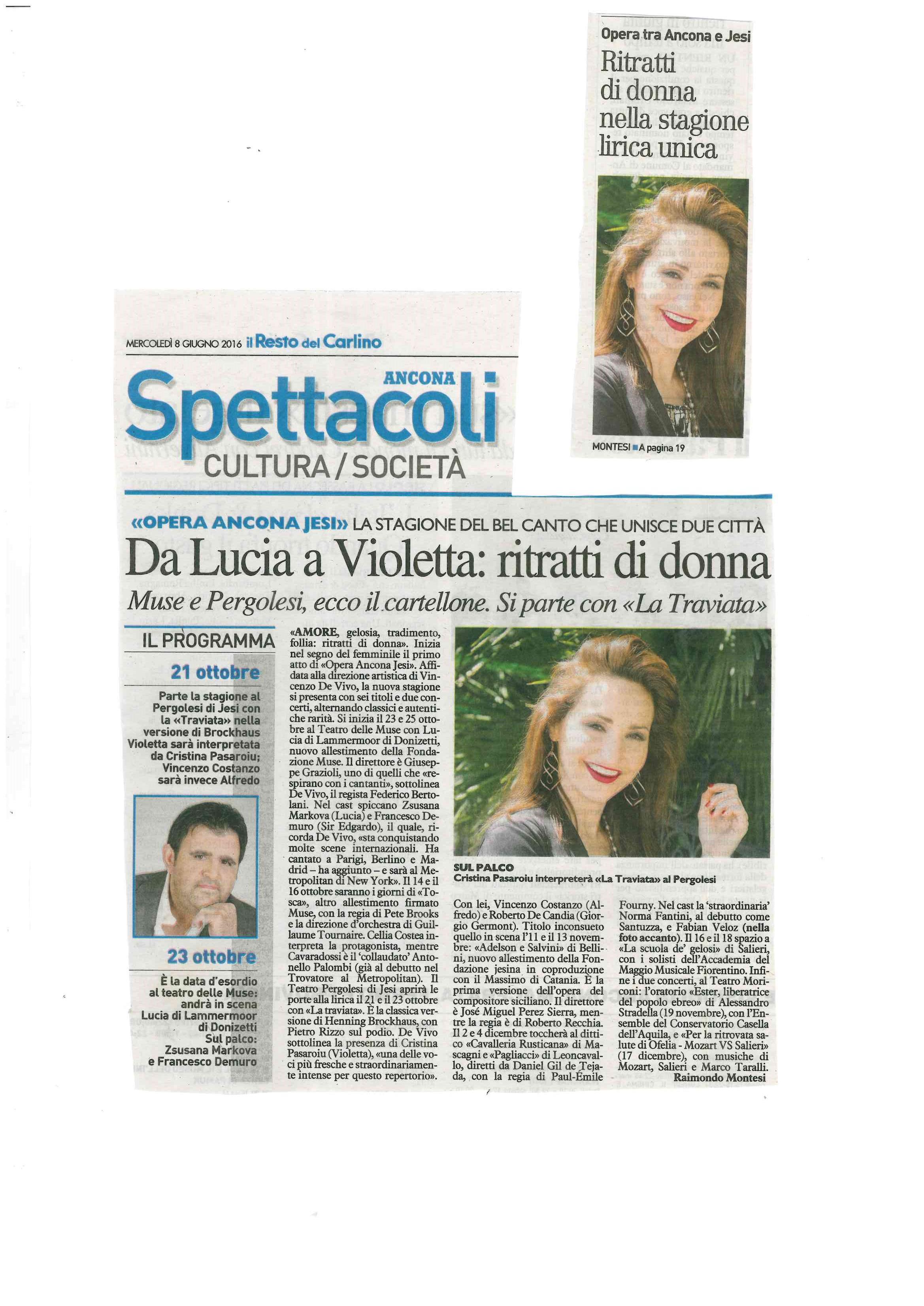 2016_06_08_ Da Lucia a Violetta  ritratti di donna _il resto del carlino